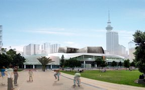 Artist impressions of the Aotea Centre after it's first major do-up in nearly 30 years.