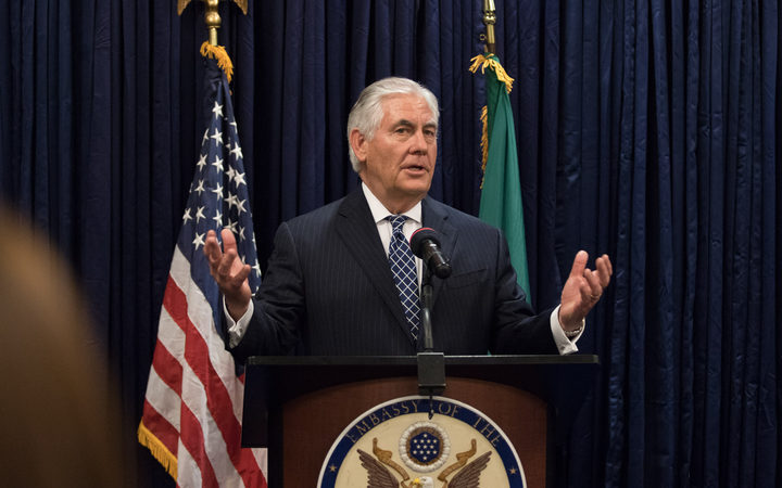 US Secretary of State Rex Tillerson.