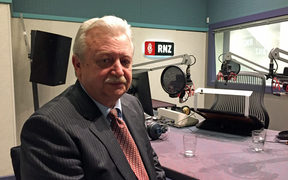 Russia's ambassador to New Zealand, Valery Tereshchenko, in RNZ's Wellington studio.