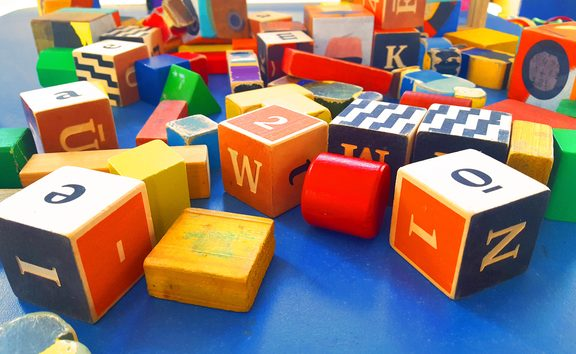 Blocks at an early childhood centre