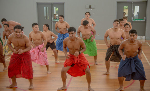 St Paul's Samoan Group practice their Fa'ataupati for Polyfest 2018.