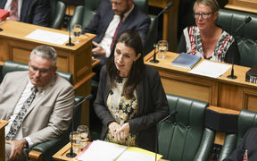 Prime Minister Jacinda Ardern debating in The House