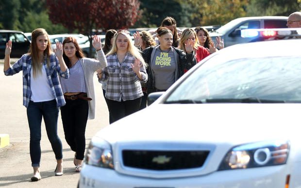 Staff, students and faculty are evacuated from the college.