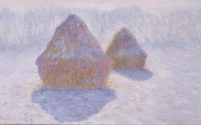 Monet: Haystacks (Effect of Snow and Sun) 1891