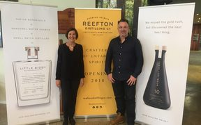 Reefton Distilling founders Patsy Bass and Sean Whittaker.