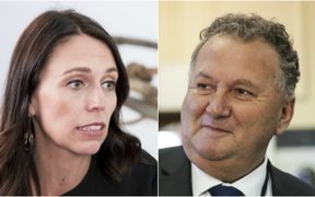 Prime Minister Jacinda Ardern and Regional Economic Development Minister Shane Jones.