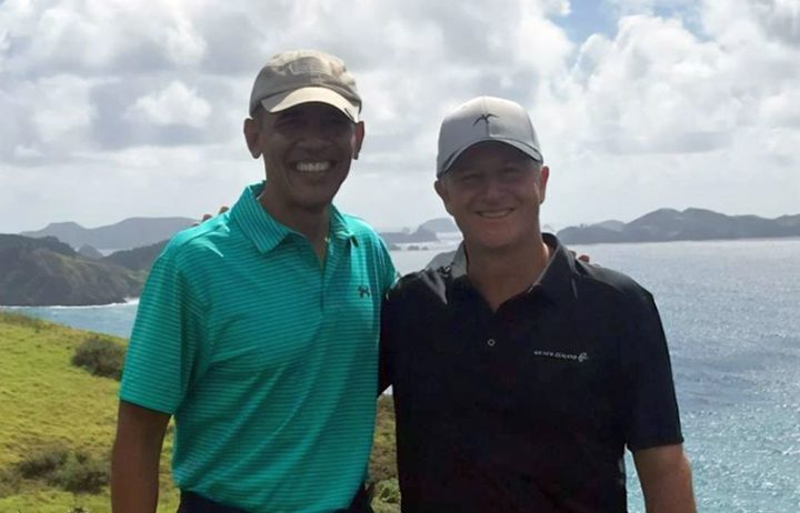 Former US President Barack Obama and former NZ Prime Minister John Key played a round of golf in Northland.