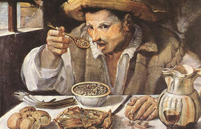 Annibale Carracci's The Beaneater 1580-90