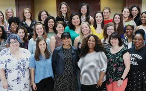 Megan Whelan (third in from front left row) and the women at Poynter's academy for women leaders in media