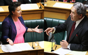 National Deputy Leader Paula Bennett (left) and Deputy Prime Minister Winston Peters (right) in the House.