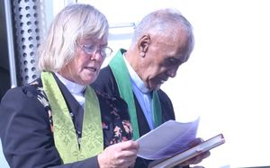 Reverend Hirini Parata, from Moerewa, and Glenys David, from Kawakawa, carried out the blessing at Opua on 5 October 2015.