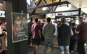 Hundreds turn out in South Auckland to watch Joseph Parker take on Anthony Joshua.