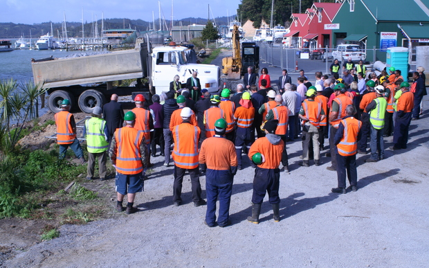 A blessing was held ahead of the Opua marina extension in Bay of Islands on Monday 5 October 2015.