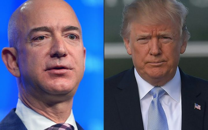 Trump says taking a serious look at policy options on Amazon