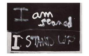 I am Scared, 1976, Auckland, by Colin McCahon. Purchased 2008 by Te Papa.