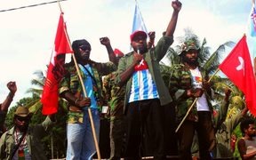 The West Papua National Committee chairman Victor Yeimo addressed the demonstration in the Papuan provincial capital, Jayapura.