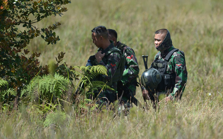Members of the Indonesian Army in Papua.