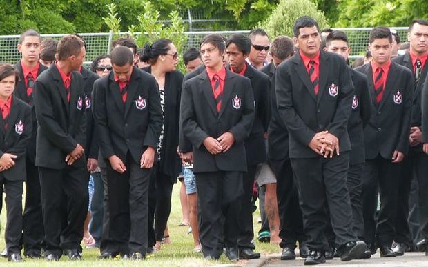 Students at Te Aute Māori boys' college