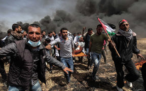 Clashes erupted on the Gaza-Israel border a week after similar demonstrations led to violence in which Israeli force killed 19 Palestinians, the bloodiest day since a 2014 war.