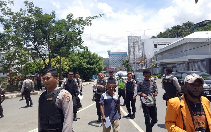 A Papuan group was taken in by Indonesian police on 7 April 2018 after holding a public collection for donations to a relief fund for earthquake victims in neighbouring Papua New Guinea.