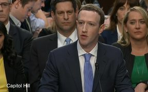 Mark Zuckerberg gives testimony before Congress.