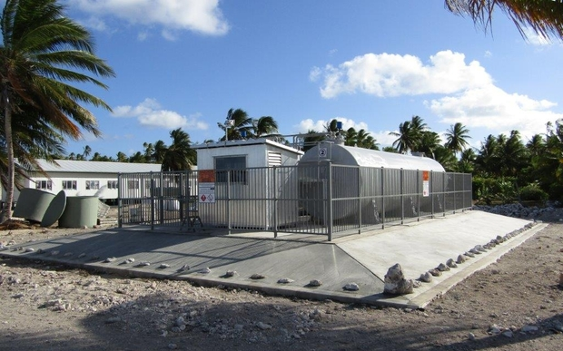 The new fuel depot on Penrhyn, handed over by the Tropic Twilight multinational task group.