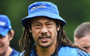 The Blues coach Tana Umaga.