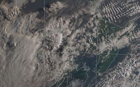 MetService said yesterday's front has departed to the east leaving NZ under a southwesterly flow.