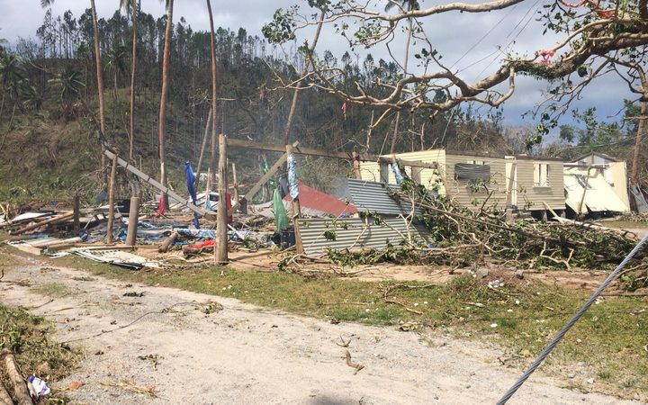 Damage on Kandavu after Cyclone Keni