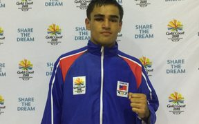 Samoan boxer Ato Plodzicki-Faoagali has a shot at gold at the Commonwealth Games