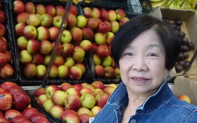 Nancy Young, at eighty running the last Chinese fruit shop standing in Balclutha.