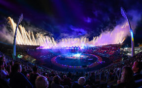 Fireworks complete the closing ceremony of the 2018 Commonwealth Games.