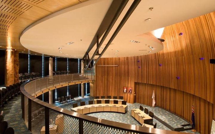Local politicians want to keep the award winning former Waitakere City council chamber, as a community space.