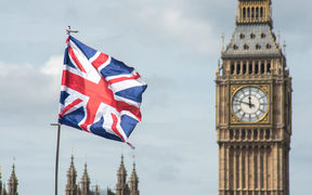 The UK flag and Big Ben