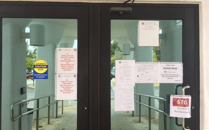 The CNMI court building closed by mould