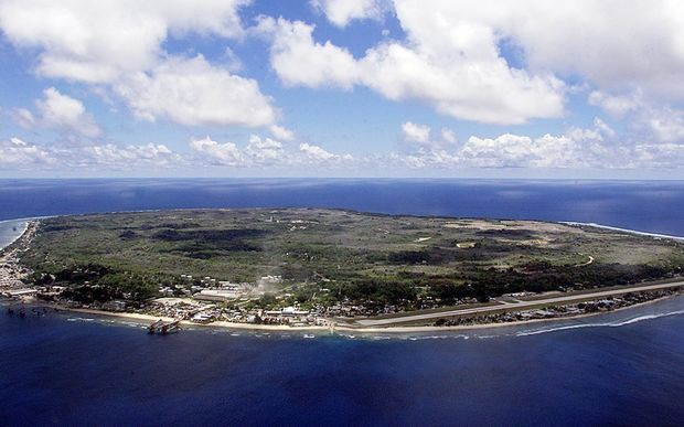 The barren and bankrupt island state of the Republic of Nauru awaits the arrival of refugees, 11 September 2001. Just 25 square kilometres, Nauru has been devastated by phosphate mining which once made the Micronesians the second wealthiest people per capita on earth. AFP PHOTO/Torsten BLACKWOOD