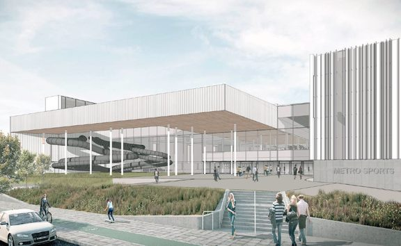 An artist's impression of the Metro Sports Facility northern entry.