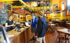 The Wholemeal Cafe in Takaka is one of the town's longest running cafes.