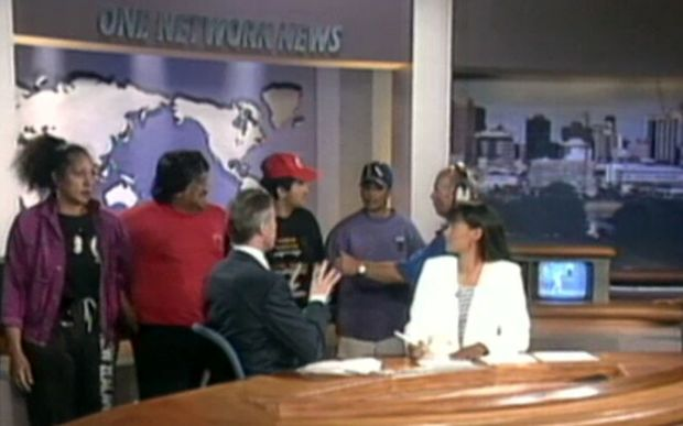 A protest group including Ken Mair and Piripi Haami entered Television New Zealand in 1995 to call for more representation of Māori news.