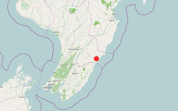 GeoNet said the strong quake struck at 9.05pm about 20 kilometres east of Pongaroa.