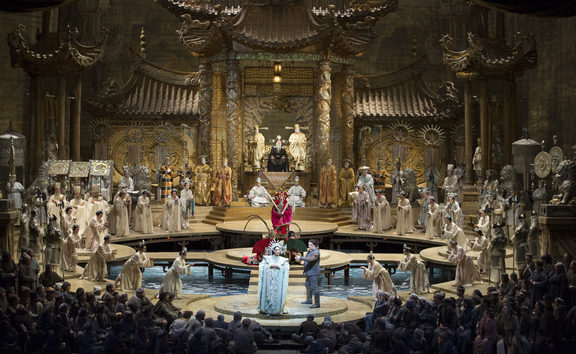 A scene from Turandot at The Metropolitan Opera
