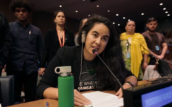 Julia Whaipooti at the United Nations