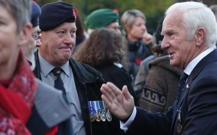 Veterans at the Christchurch service.