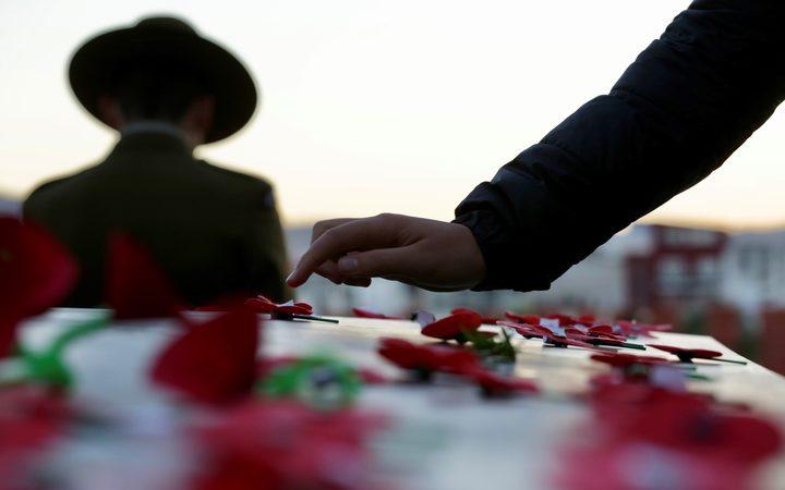 Commemorations in Wellington at Pukeahu National War Memorial Park.