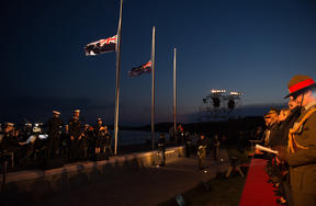 Dawn service at the ANZAC Commemorative Site in Gallipoli. 2018 marks the centenerary of New Zealanders returning to Gallipoli to pay their respects to their fallen for the first time.
