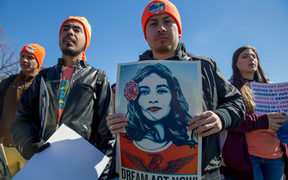 Pro DACA and Dreamer supporters march at US Capital on March 5, 2018 in Washington, DC