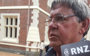 David Tamihere outside the High Court at Auckland.