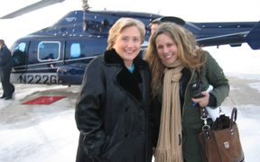 Hilary Clinton and Amy Chozick