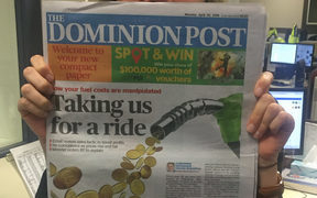 The first edition of the new tabloid-sized Dominion Post.