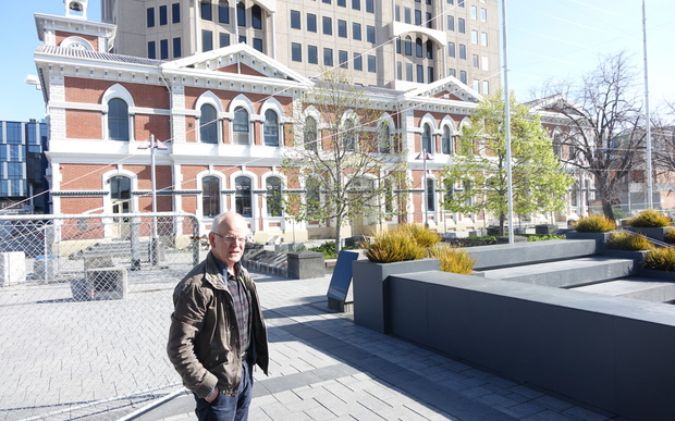 Heritage advocate Ross Gray says the former Post Office in Christchurch's Cathedral Square is one of many building's whose future is uncertain.